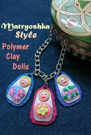 diy craft tutorial how to make a matryoshka style polymer clay doll