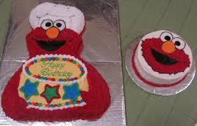 Elmo Cake And Smash Cake Cakecentralcom