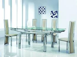 round glass top dining table set round glass dining table for 6 brilliant room furniture modern