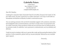 Sales Associate Cover Letter Sample Cover Letter Samples