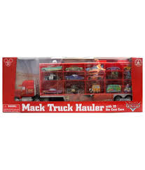 disney pixar cars mack truck hauler carrying case and 15 cast character cars imported toy car