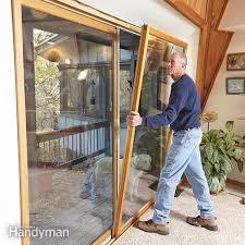 stop patio door drafts