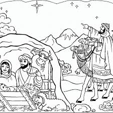 Nativity Coloring Pages For Preschool With Free Printable Nativity