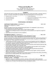 92 Sample Resume Finance Financial Advisor Resume Examples