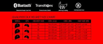 Bell Qualifier Dlx Size Chart