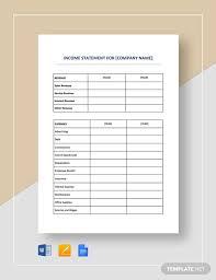 Simple Income Statement Simple Income Statement 12 Free Pdf Word Documents