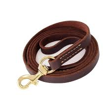 details about fairwin brown 6ft 5ft genuine leather dog leash leads rope for large medium