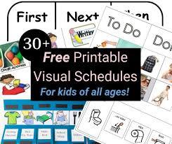Free printable visual schedule for preschool. 33 Printable Visual Picture Schedules For Home Daily Routines Visual Schedule Preschool Picture Schedule Visual Schedule Autism