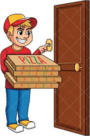 pizza delivery clipart. Plain Delivery Pizza Delivery Boy Ringing Doorbell  PNG  JPG And Vector EPS Infinitely  Scalable To Delivery Clipart I