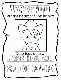 Wanted Poster Template For Pages Printable Wanted Posters For Kids Coloring Home