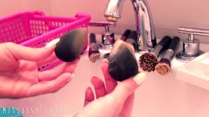 how to wash your makeup brushes beauty blender sponges jessica harlow s brush with beauty you