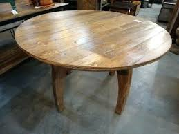 48 round solid wood dining table inches pedestal add simple rustic appeal to your space with