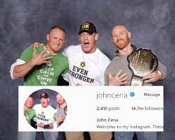 John Cena has used this photo of my friend and me (bald guy) for his  Instagram profile pic for about 6yrs: SquaredCircle