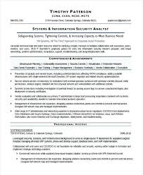 Network Analyst Resume Sample Information Systems Security Analyst