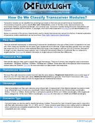 Fluxlight Transceiver Module Classification By Fluxlight Issuu