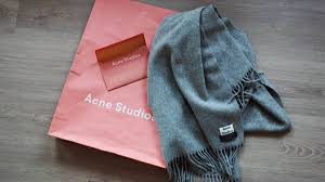 Acne Studios Canada Light Grey Melange New In Acne Studios Canada Light Grey Melange Scarf