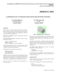 Pressure Vessel Design Asme Pdf A Comparison Study Of Pressure Vessel Design Using