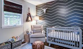 Image of: Chevron painting accent walls