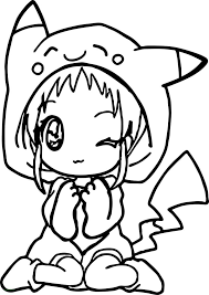 Kawaii Coloring Pages Stirring Cute Unicorn Girl For Adults