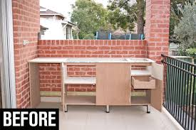 built in bbq bench before