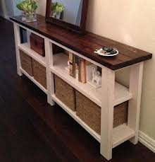black sofa table with storage. Storage Tables With Baskets Sofa Table Magnificent Rustic Hall Console Drawers Cabinets . Black