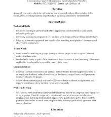 Relevant Skills Resume Relevant Resume Skills Relevant Skills For