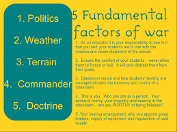 the art of classroom discipline part i lily se seepkis sun tzu starts his series of essays by listing and discussing the 5 fundamental factors of war these 5 fundamentals can be applied to education