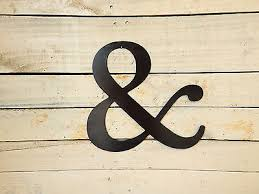 2 of 3 and sign sign wedding decor ampersand sign metal wall art