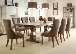 image of 7 piece dining room set chairs high back