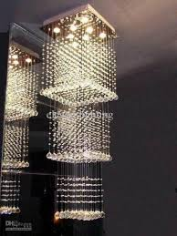 modern contemporary crystal rain drop chandelier pendant light