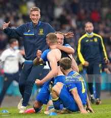 Ukraine's Artem Dovbyk celebrates scoring their side's second goal of...  News Photo - Getty Images