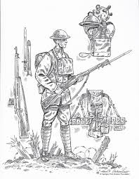 Ww1 Coloring Page From First Division Museum World War One For