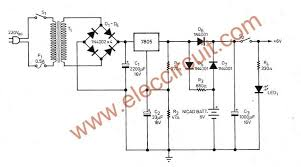 simple ups circuit diagram eleccircuit com 6v backup battery power supply regulator ic
