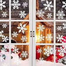 Schneeflocken Aufkleber Fensterbilder Weihnachtsdeko Tolle Fensterdeko Abziehbilder Für Weihnachtenwinter Dekoration Abnehmbare Fensterdeko