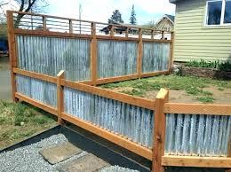 corrugated metal fence ideas used corrugated metal fence wood framed corrugated metal fence plans
