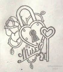 lock and key drawing. Exellent And Drawn Hearts Lock Lock And Key Drawing On Lock And Key Drawing E