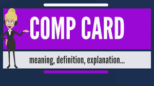 what is a comp card what is comp card what does comp card mean comp card meaning