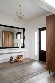 large contemporary mirrors entry transitional with front hall area rug