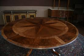 Round Dining Table For 6 With Leaf Round Mahogany Dining Table With Leaves Antique Reproduction