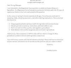 Registered Nurse Cover Letter Template Nursing Cover Letter Template Word New Grad Templates Or