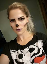diy skull makeup skeleton costume easy skull face costume