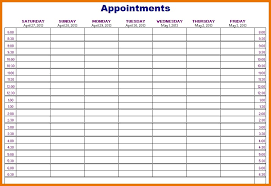 Appointment Calander Printable Monthly Appointment Calendar Appointment Schedule Template