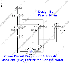 pump contactor wiring diagram star delta 3 phase motor automatic starter timer automatic star delta power control diagram