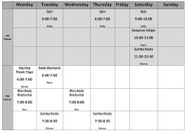 Schedule To Print Class Schedule Diesel Fitness