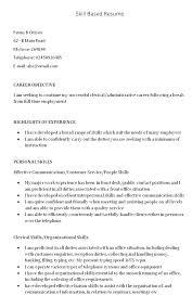 Skills Resume Template Functional Resume Summary Example Skills ...