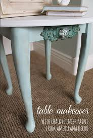 table makeover with chalky finish paint