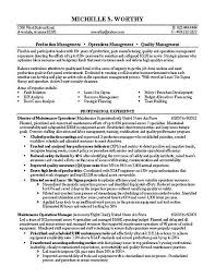 Quality Manager Resume Example Security Operations Manager Resume