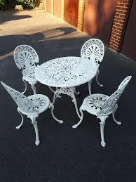 Vintage cast aluminium 1980s garden furniture