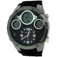henley men 039 s chronograph and alarm digital lcd black rubber image is loading henley men 039 s chronograph and alarm digital