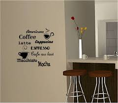 kitchen wall decor ideas fresh coffee wall art sticker vinyl e kitchen cafe of kitchen wall